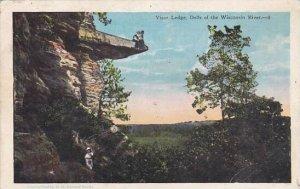 Wisconsin Wiscoinsin River Visor Ledge Dells Of the Wisconsin River 1927