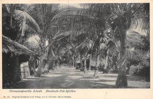 German East Africa Tanzania Deutsch-Ost-Afrika, Strassenpartie Lindi, Postcard