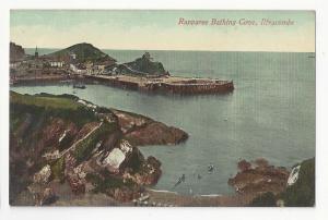 UK Devon Ilfracombe Rapparee Bathing Cove Valentine's Series Postcard c 1910