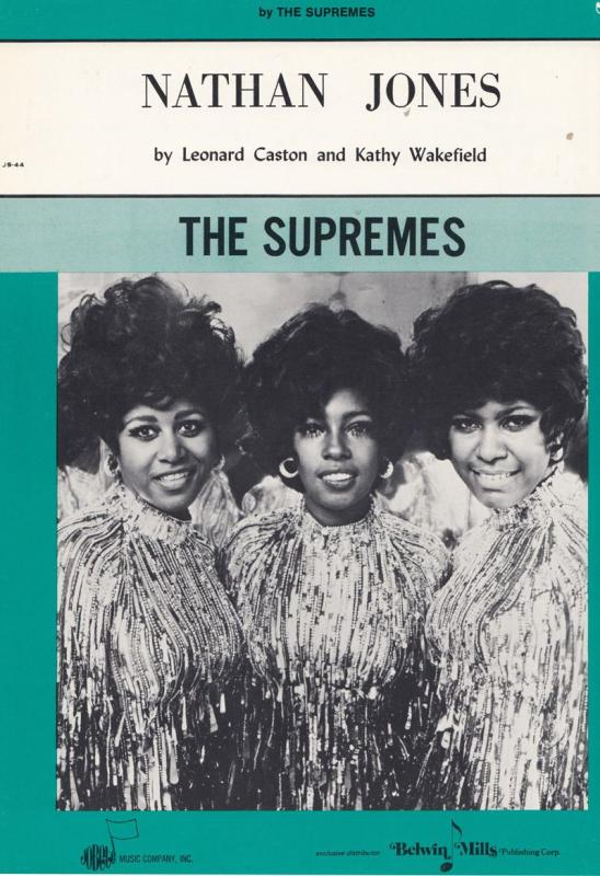 The Supremes Nathan Jones from Tamla Motown 45 XL Sheet Music