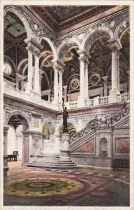 Main Hall Library Of Congress Washington DC 1912