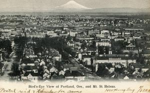 OR - Portland. Mount St Helens in Distance