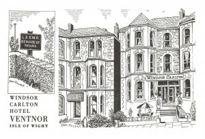 Art Postcard Windsor Carlton Hotel Ventnor Isle of Wight by Don Vincent AS1