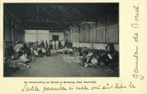 indonesia, JAVA BANDUNG, Workhouse of the Blind (1899) Postcard