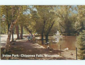 Pre-1980 PARK SCENE Chippewa Falls Wisconsin WI W6283