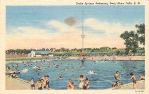 Sioux Falls South Dakota~Drake Springs Swimming Pool~Platform~Bath House~1938