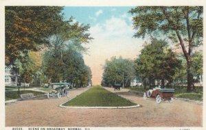 NORMAL , Illinois, 1900-10s; Scene on Broadway