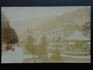 Derbyshire MATLOCK BATH Promenade Gardens & Bandstand? c1905 RP Postcard