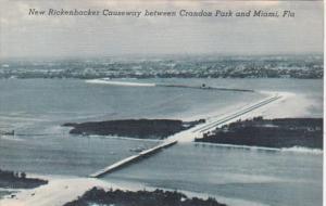 Florida Miami New Rickenbacker Causeway Between Crandon Park and Miami