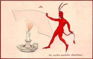The Devil The illustrees postcards! O. P. F. Embossed Postcard