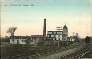 Newport ME Woolen Mill c1905 UDB Postcard