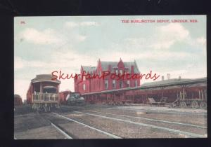 LINCOLN NEBRASKA THE BURLINGTON RAILROAD DEPOT TRAIN STATION