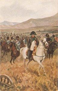 Napoleon  a la victoire. Charge de Husards. Horse Old vintage French postcard