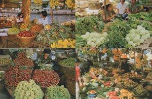Bankok Thailand Weekend Market Vendors 4x Thailand Postcard s