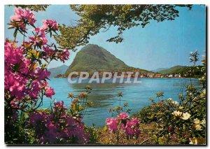 Modern Postcard Lugano II S Salvatore visto del Parco Ciani