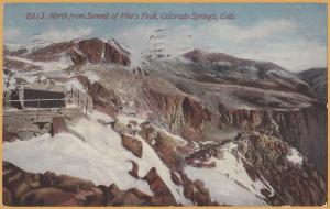 Colorado Springs, Colo., North from the summit of Pike's Peak - 1913