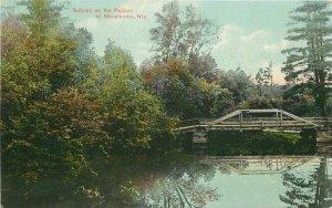Autumn Pelican Rhinelander Wisconsin C-1910 Postcard Hinman 6062