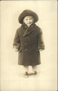 Children's Vintage Fashion Little Boy Coat Hat Shoes Buttons Albany NY Studio