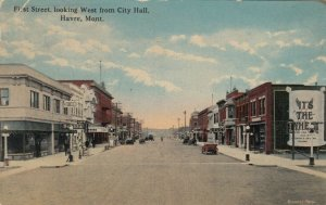 HAVRE, Missouri, 1900-10s ; First Street, looking West from City Hall