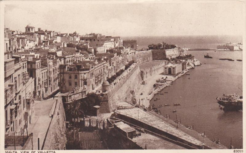 MALTA , 1910s ; View of Valletta