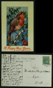 New year  Artotype Brockville Ont to lynn 1909