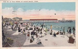 Connecticut Ocean Beach Find Me In The This Crowd At Ocean Beach 1925