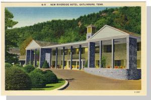 Gatlinburg,Tennessee/TN Postcard,Riverside Hotel,Near Mint!