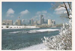 Canada Winter Skyline Calgary Alberta