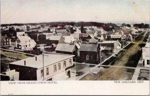 Grand Union Hotel New Liskeard ON Ontario Birdseye UNUSED Warwick Postcard E75