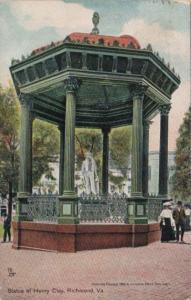 Virginia Richmond Statue Of Henry Clay 1907 Tucks