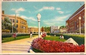 Maine Bangor Norumbega Mall 1951