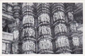 India Khajuraho Kandariya-Mahadeva Temple Details Of Northeastern Facade