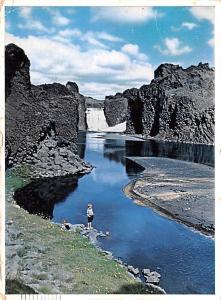 Thjorsar Valley Ireland Waterfall Hjalp Thjorsar Valley Waterfall Hjalp