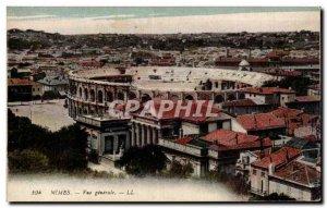 Old Postcard Nimes Arenes General view