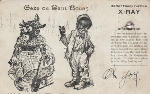 Boy points to large girl, Gaze on Dem Bones!, 1900-10s