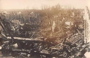 Chateau-Thierry France World War City Ruins Real Photo Antique Postcard J72235