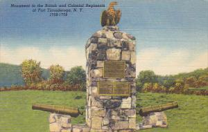 Monument To The British And Colonial Regiments At Fort Ticonderoga New York C...