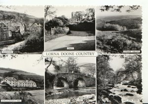 Devon Postcard - Views of Lorna Doone Country - Real Photograph - Ref 20757A