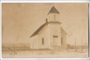 RPPC, M.E.Church - AD 1901 on Sign Over Door ?