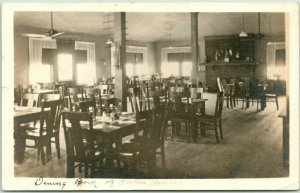 DAYTON, Ohio RPPC Real Photo Postcard Dining Room of Hostess House 1918 Cancel