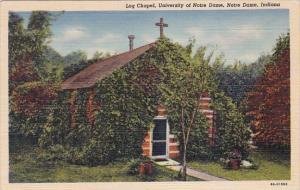 Log Chapel University Of Notre Dame Indiana 1955