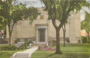 Westfield NewJersey~Handcolored Masonic Temple~Terrace Steps~Finely Coiffed~1920