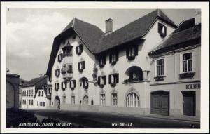 austria, KINDBERG, Hotel Gruber (1950s) RPPC