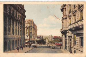 Belgrade Serbia Grand Street Scene Antique Postcard K96864