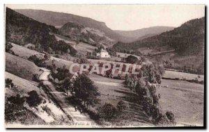 La Bourboule Old Postcard The valley of Bourboule and rock Vendeix