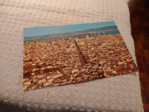 Vintage 1960's Panorama of San Francisco, California Postcard
