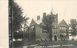 C-1910 Grundy Center Iowa McKinley High School Building RPPC real photo 10409