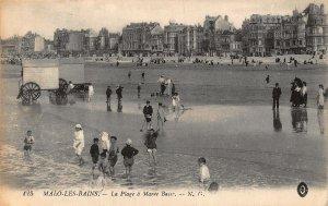 France Malo Les Bains La Plage a Maree Basse Postcard