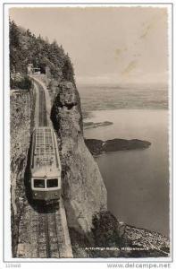 RP;  Switzerland, Arth-Rigi-Bahn Krabelwand - Blick auf den Zugersee - train,...