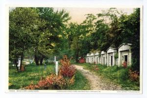Portland ME Postcard Longfellow Family Tomb Western Cemetery